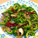 【唐辛子レシピ】ゴーヤとザーサイのピリ辛炒め  -中華風-