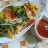 【唐辛子 レシピ】豆苗と油揚げのホットサラダ