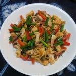 【唐辛子レシピ】イカの辛いチリソース煮
