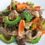 【青唐辛子レシピ】牛肉とゴーヤの青唐辛子醤油炒め