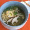 【唐辛子レシピ】きのこ入り柚子胡椒風味の卵スープ
